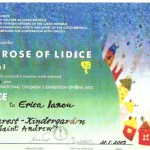 diploma_the_rose_of_lidice